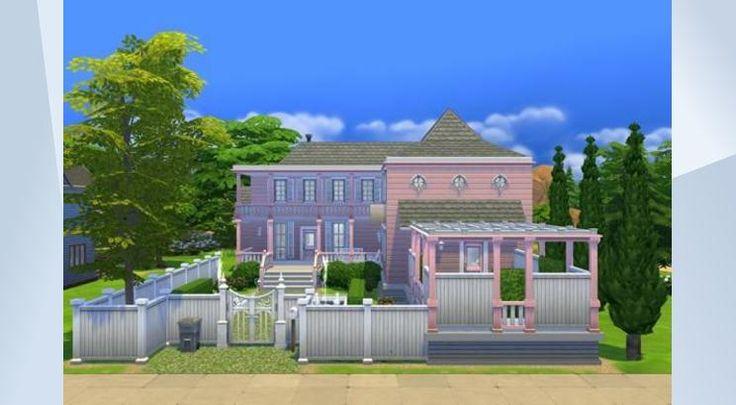Tsekkaa tämä tontti The Sims 4 Galleriassa! - #pink #traditional #furnished #residential #whatasimhouse #garden #barbie #barbiehouse #family #sauna #spaday #pool