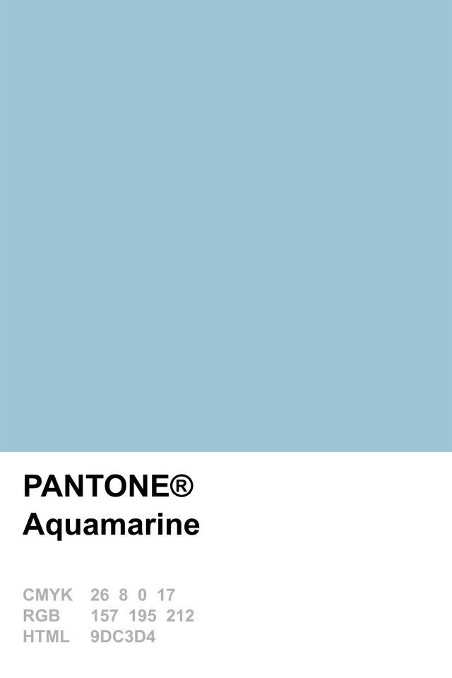 Pantone 2015 Aquamarine
