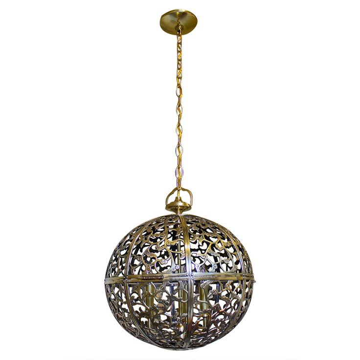 Large Pierced Asian Pendant Light | From a unique collection of antique and modern chandeliers and pendants at https://www.1stdibs.com/furniture/lighting/chandeliers-pendant-lights/