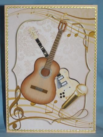 Card Gallery - Feel the Music Card Front and Decoupage: