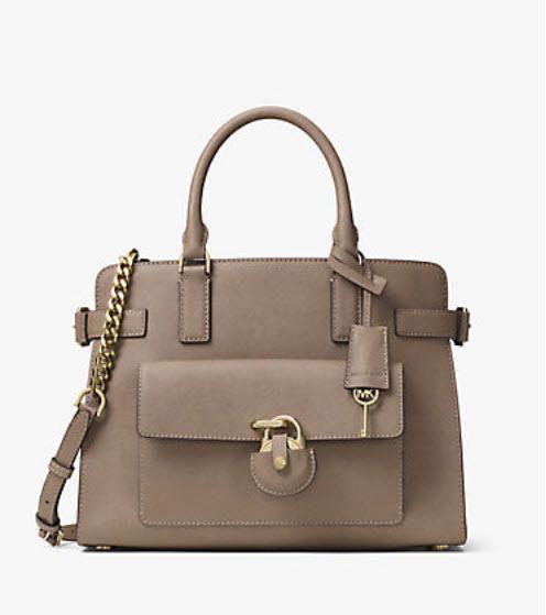 163.34$  Buy here - http://vipcs.justgood.pw/vig/item.php?t=ywuxvy45800 - Michael Kors Emma Saffiano Leather Satchel Dark Khaki NWt $398 163.34$