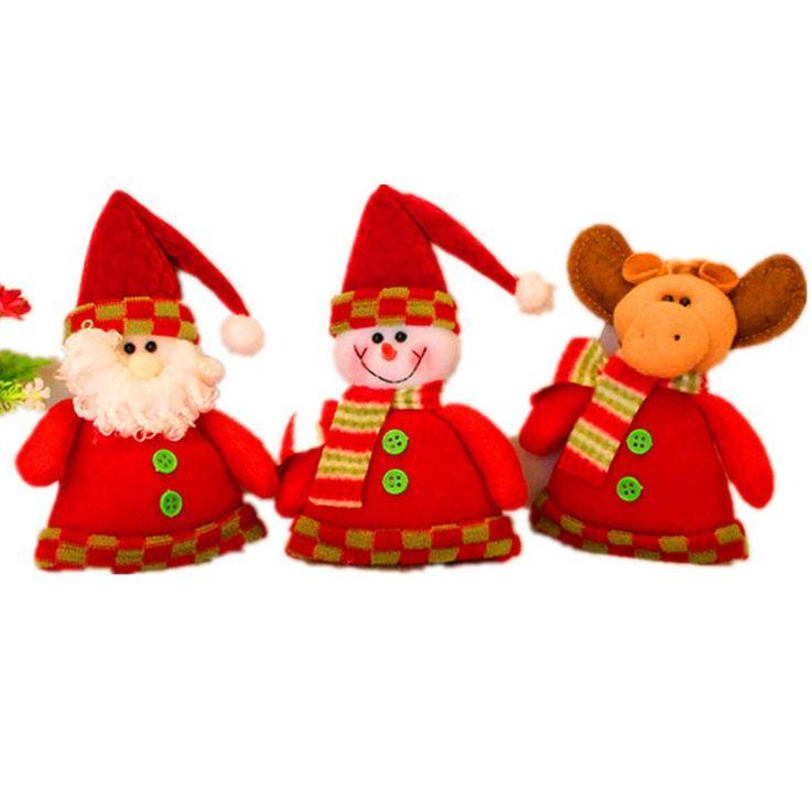 Aliexpress.com: Comprar Hot 1 Unid Colgantes Del Árbol de Navidad Colgando Adornos de Navidad de Santa Claus Snowman Deer Muñeca de Decoración Del Hogar del Regalo de Navidad 2017 de doll for fiable proveedores en aimihome Store