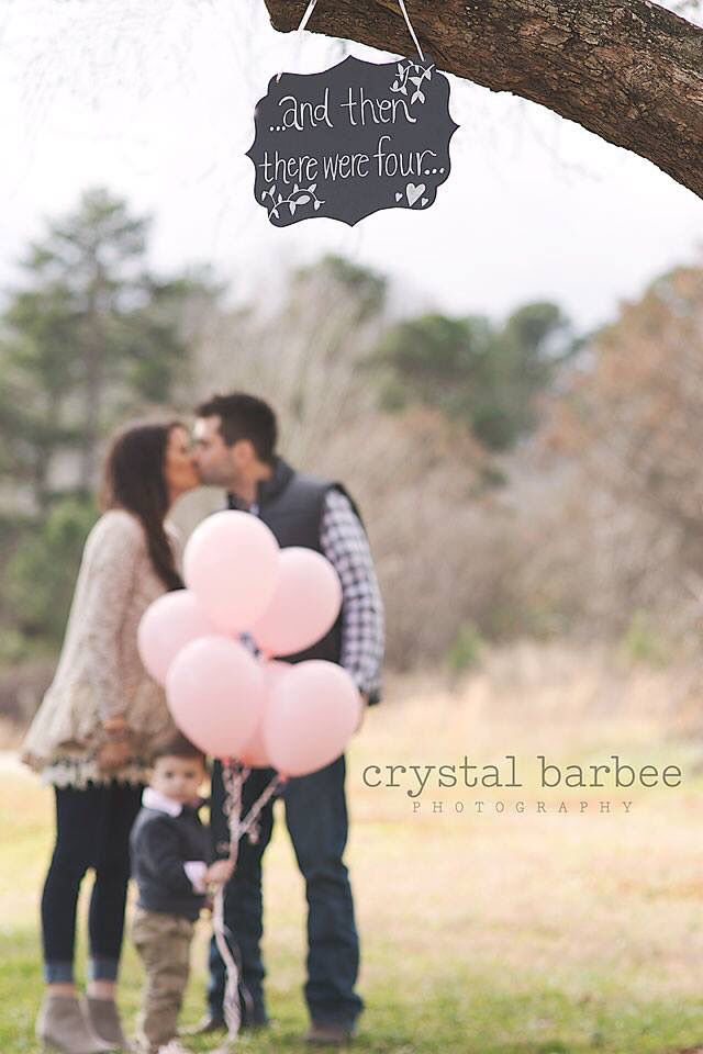 And then there were four...  Cute pregnancy announcement  Atlanta Georgia photographer Crystal Barbee Photography