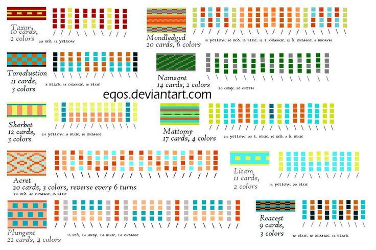 Tablet Weaving Patterns by ~eqos on deviantART