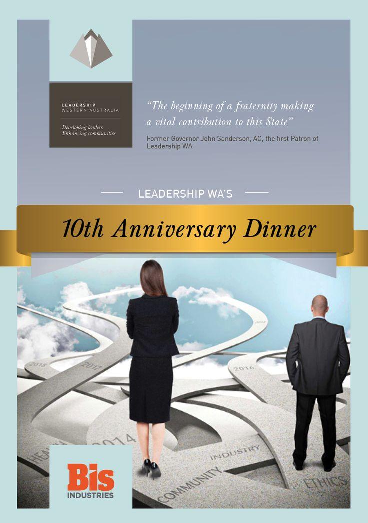 Leadership WA 10th Year Anniversary Dinner Menu