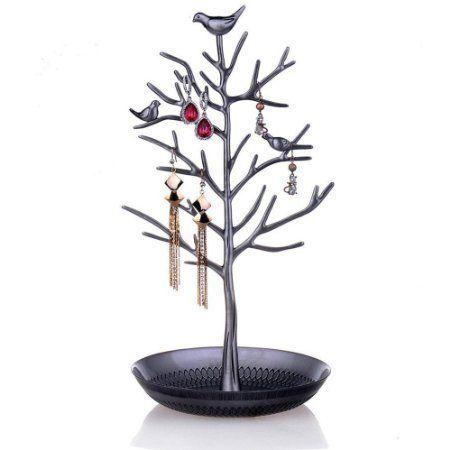 DoubleBlack Schmuck Organizer Vögel Baum für Schmuck Ohrring Halsketten Halter Schmuckständer zur Aufbewahrung: Amazon.de: Baumarkt