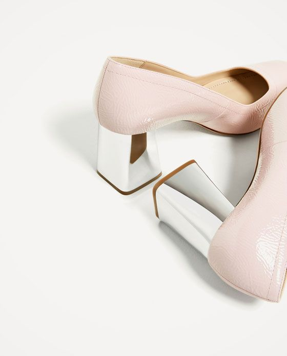 Image 4 of SILVER-TONED PATENT FINISH HIGH HEEL SHOES from Zara