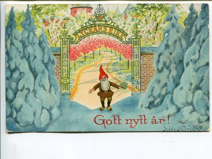 Annons på Tradera: Jenny Nyström Gott Nytt År, AE1990, beg 1916