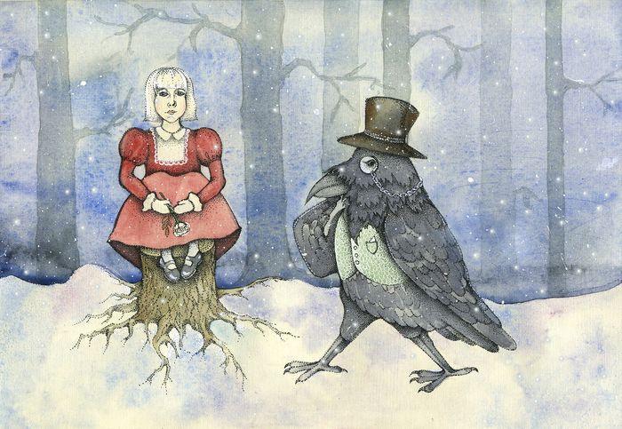 Картинки герда и ворон