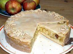 Rezept Gedeckter Apfelkuchen: Gedeckter Apfelkuchen mit Mürbeteig und vorgedünsteten Äpfeln