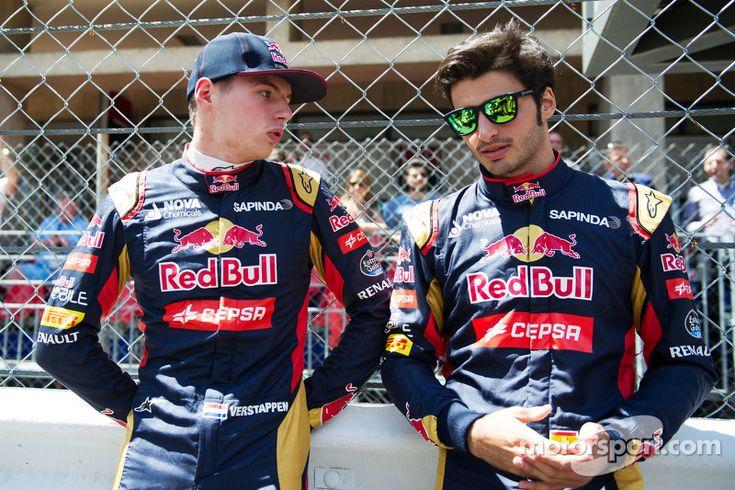 (L to R): Max Verstappen, Scuderia Toro Rosso with Carlos Sainz Jr., Scuderia Toro Rosso