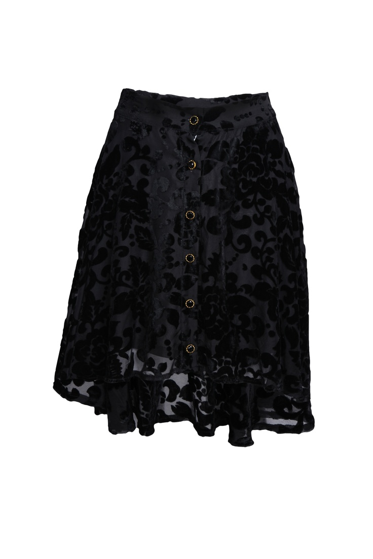 Pretty Velvet on Georgette textured skirt!  Pretty skirt .. pair it with sequined ballet flats and chiffon blouse!