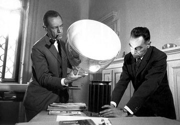 Taccia light designed in 1959 by Pier Giacomo and Achille Castiglioni produced by Flos from 1962