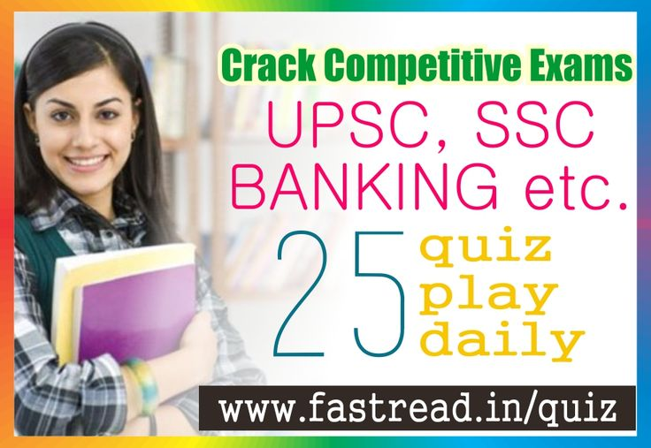 Dear Job Seekers this is best site for learn and crack your competitive Exams like: SSC, DSSSB, UPSC, Banking & Many. more. We are providing 25 Question daily basis which are choosable and unique questions for students who have need of pass their exams. Play 25 question daily and catch your dream 'Sarkari Naukri' with fastread.in . Read more at: http://fastread.in/quiz#