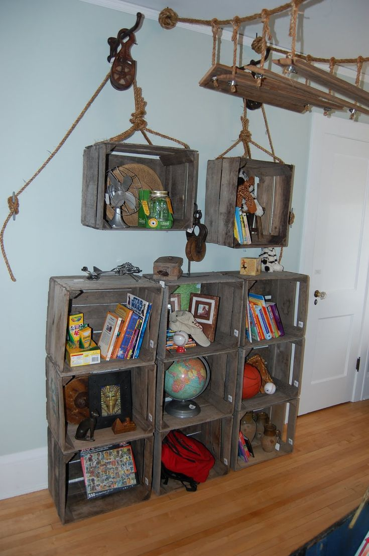 fun ides for a kids room.....I need this for his pirate room!!!