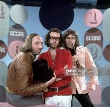 Liverpool comical trio The Scaffold John Gorman, Roger McGough and Paul McCartney's brother Mike who used the surname McGear. This was taken from their Friday TV show Score With The Scaffold
