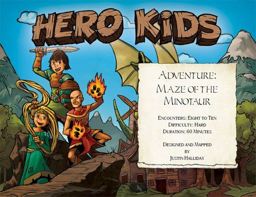 Hero Kids - Fantasy Premium Adventure - Maze of the Minotaur is an adventure for the Hero Kids system. #RPG #HeroKids