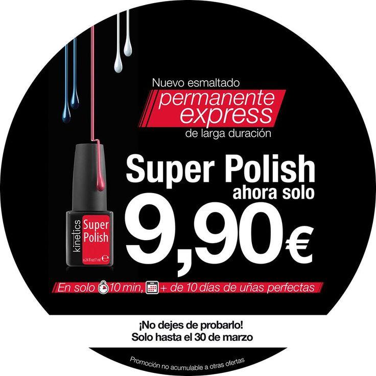 Hasta el 30/3/2015 el esmaltado permanente #Superpolish por 9,90€ en los salones The Coloured Clap. #promoción #manicura