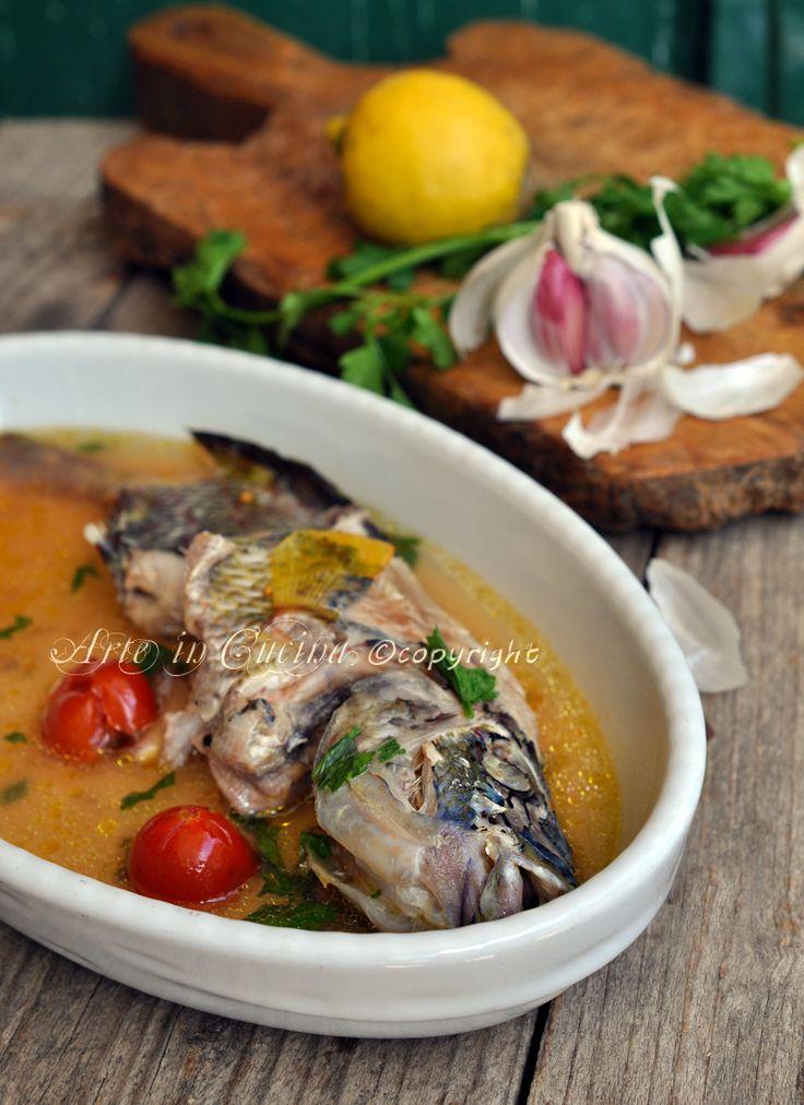 Pesce all'acqua pazza ricetta facile vickyart arte in cucina