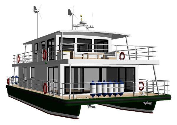 Modus maris houseboat houseboat pinterest boating for Boat house blueprints