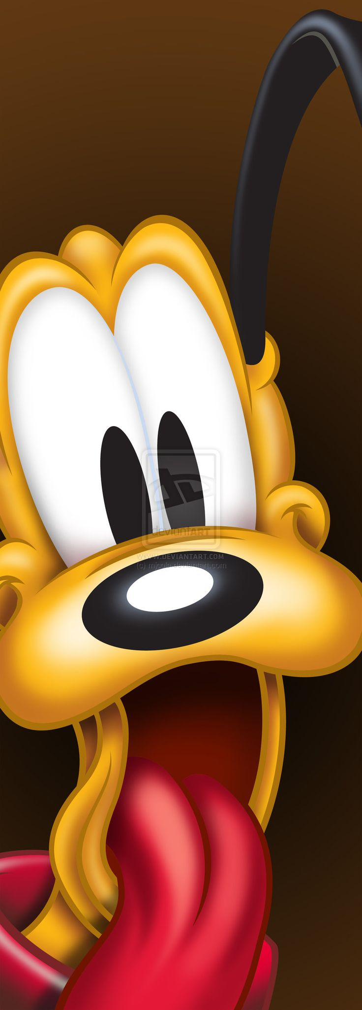 Pluto is happy about something or someone!