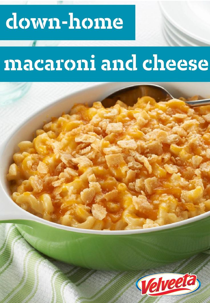 VELVEETA Down-Home Macaroni & Cheese – If you're looking for a mac and cheese recipe with the perfect balance of cheesy and creamy, the search ends here.