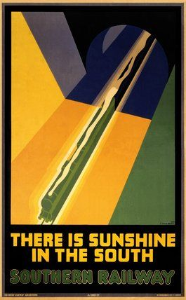 'There is Sunshine in the South' ,Southern Railway poster, 1930.