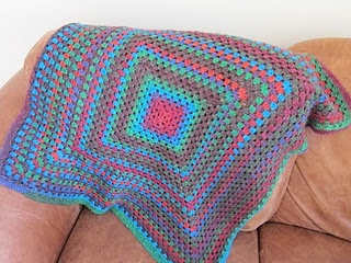 Beautiful big granny square receiving blanket for my baby