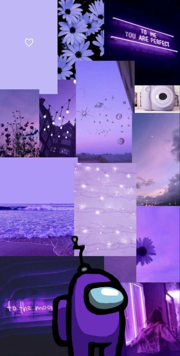 Among Us Purple Wallpaper Iphone Purple Wallpaper Black And Purple Wallpaper