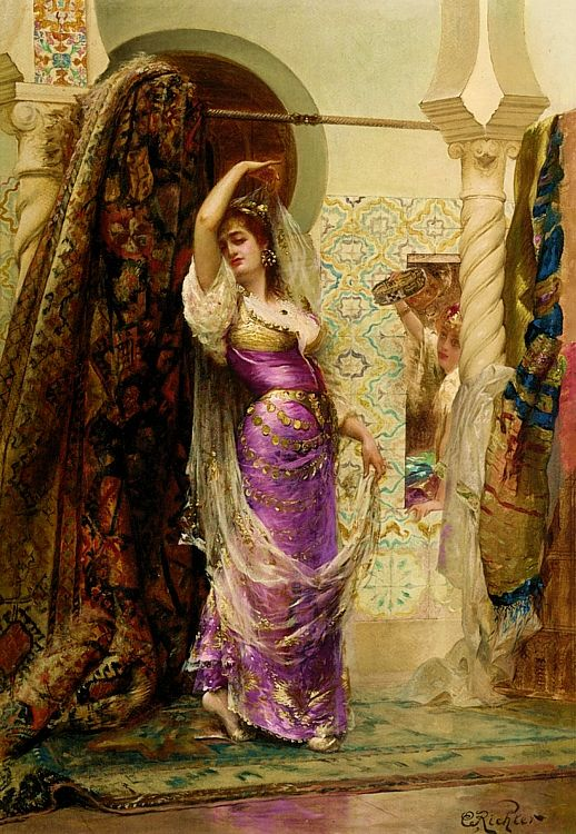What a sumptuous painting...♥♥♥...Edouard Frederic Whilhelm Richter