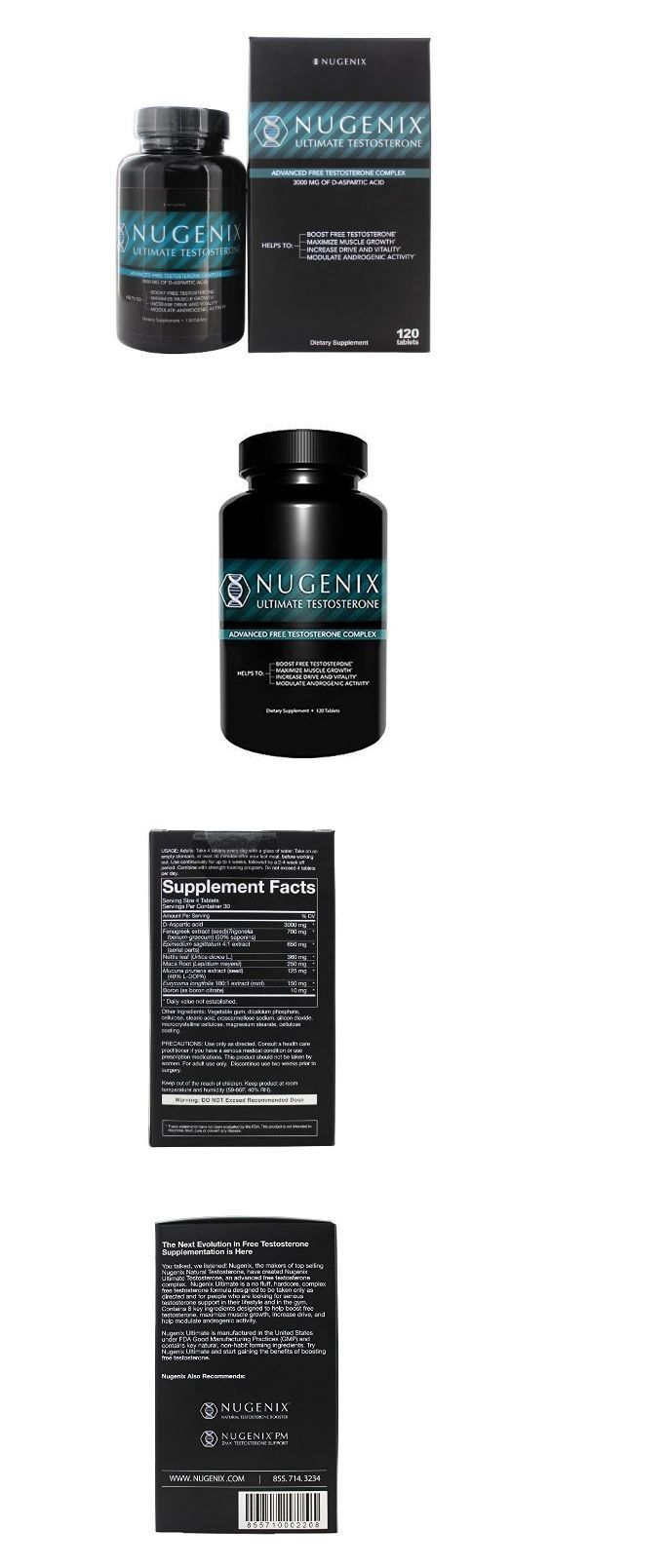 Health And Fitness: Nugenix Ultimate Testosterone Booster Dietary Supplement - 120 Tablets BUY IT NOW ONLY: $61.99 ()