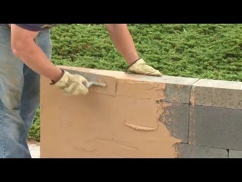 "Building a garden wall, a planter, a mail box enclosure or even an outdoor kitchen can be as easy as ""Stack and Stucco"" with QUIKRETE QUIKWALL Surface Bonding Cement."