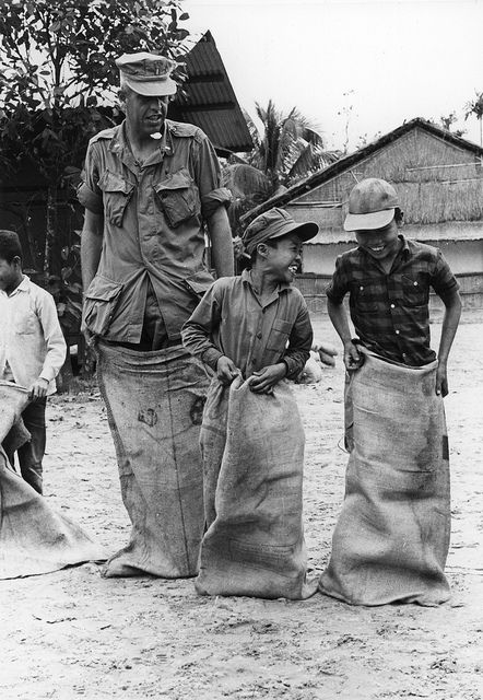 Christmas Party Sack Race, Vietnam, 25 December 1967