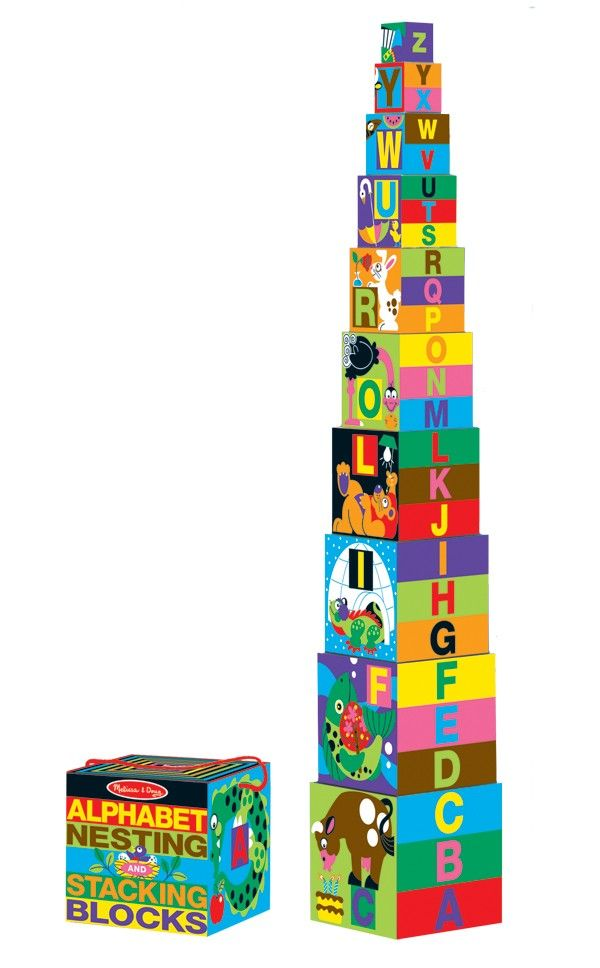 Melissa & Doug - Nest n Stack Alphabet Blocks  These would be a great toy for my toddler to learn her alphabet! #EntropyWishList #PinToWin