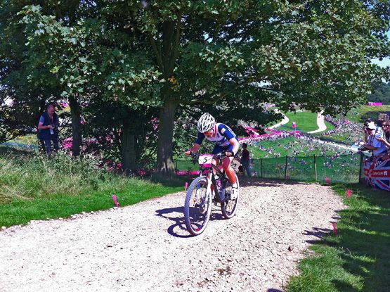 OLYMPIC WOMEN'S MTB RACE 2012 | The Women's Olympic MTB race at Hadleigh Farm.