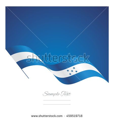 Honduras abstract wave flag ribbon vector background