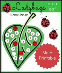 Number Recognition Activity: Ladybugs on a Leaf - The Measured Mom