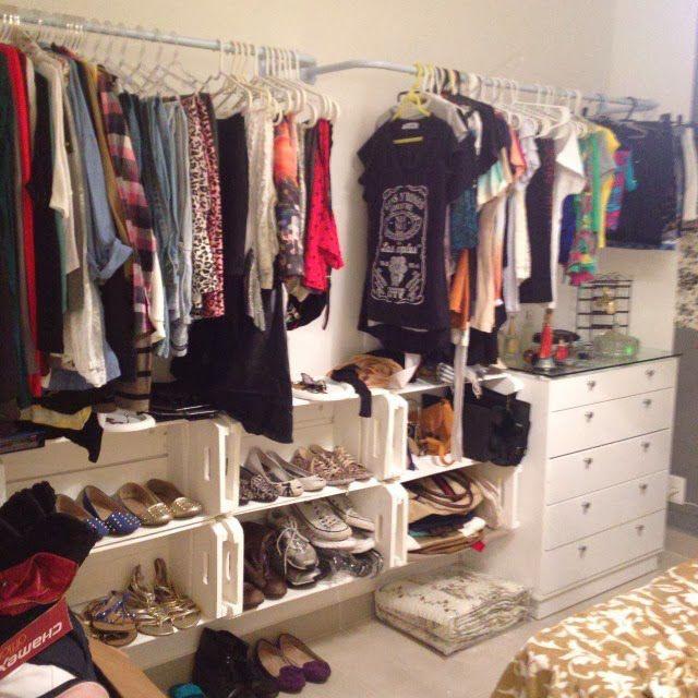 25 melhores ideias de closet barato no pinterest for Organizadores para closet