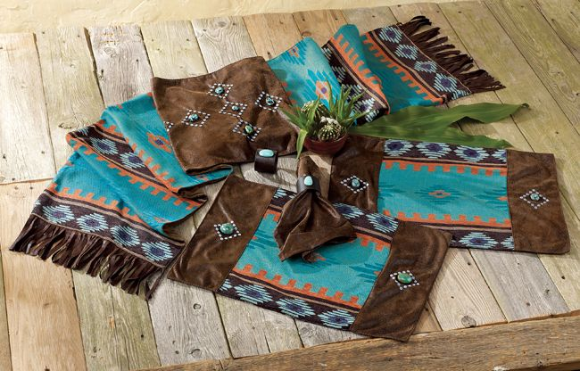 western table runner with place mats
