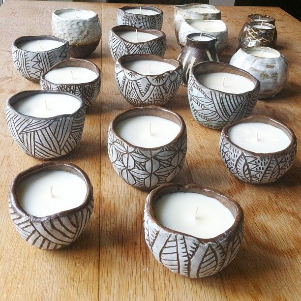 25 best ideas about clay candle holders on pinterest for Clay pottery designs