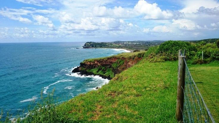 Lennox Head at the top of the lookout viewing south