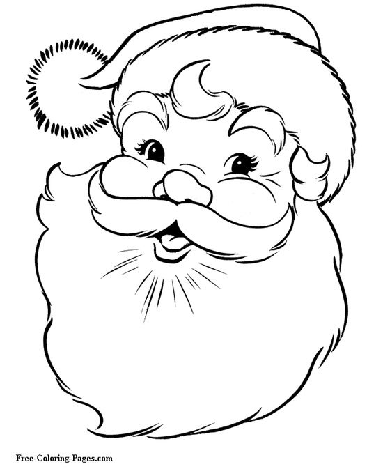 christmas coloring pages santa claus by le_styliste