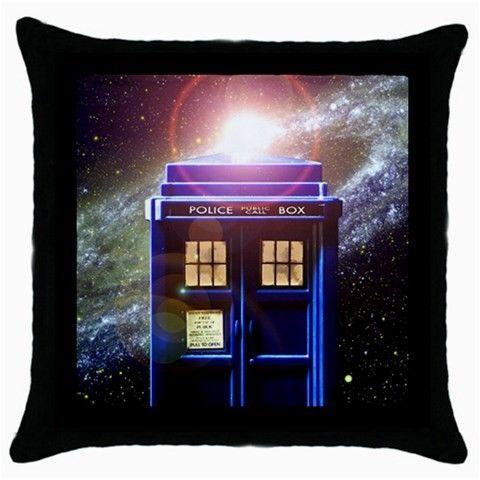 Dr Who TARDIS Throw Pillow Case 100% Cotton via Greatest Gift