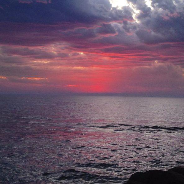 Beautiful colours of a dramatic sunset