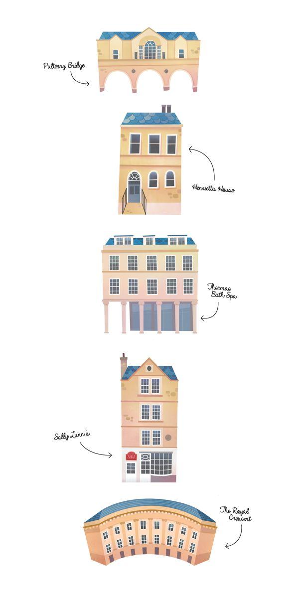 Bath Map Design by Kathrin Wulfers, via Behance
