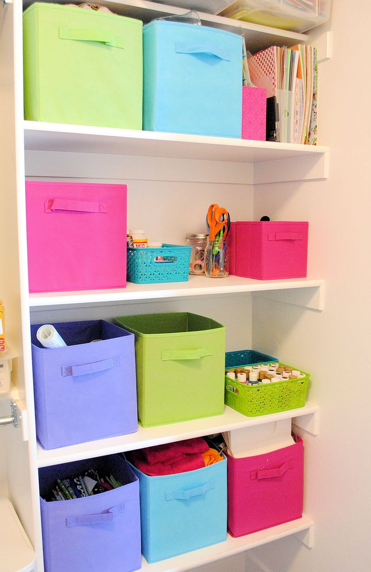 How to Organize your craft Supplies in a small space, from Crazy Little Projects.  Not like all my craft junk would fit in one small closet but it might have good ideas?