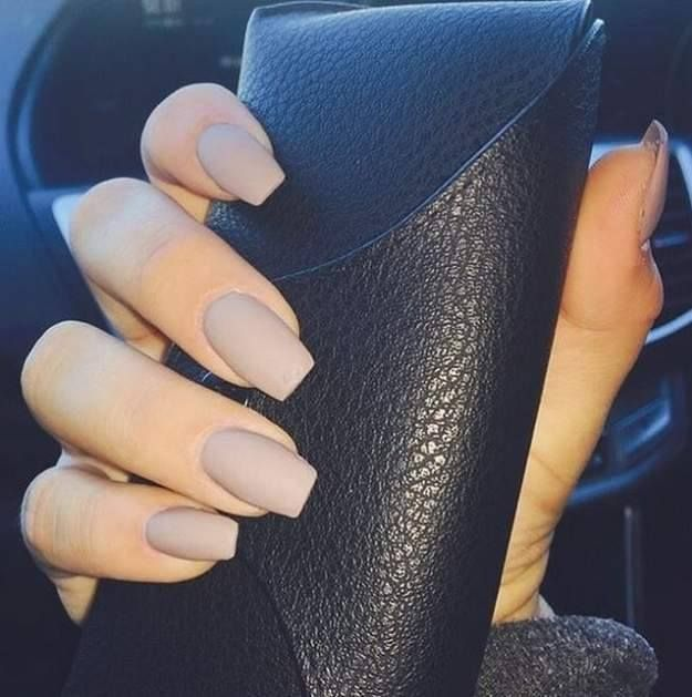 Back to School Nails 1: Matte Nude Nails from kathysnailsoc. Lets start off with the classic nude nail color to match your back to school outfit perfectly! #backtoschool #schoonails #nudenails
