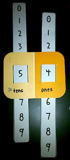 This looks like a super easy math tool to make for our place value unit.  (amodernteacher.com)