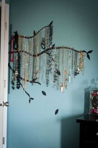 By painting on this super cute tree, you can hang up your jewelry's on the branches, making it look like leaves!