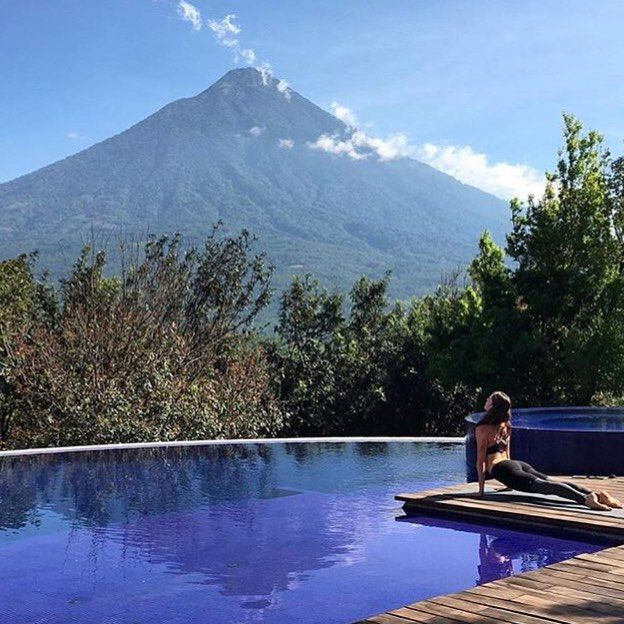 WEBSTA @kuxtal_residences Volcan de Agua, Hunahpú in mayan language, located about 5-10 km from La Antigua Guatemala. On the way to the residences you will find the famous coffee that grows on its slopes. Ph: @jamie_tisdale_hunter . . . . . .